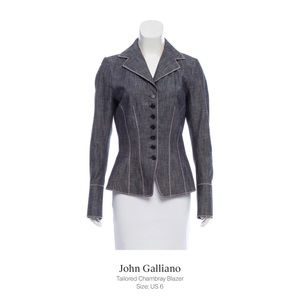 John Galliano Chambray Suit
